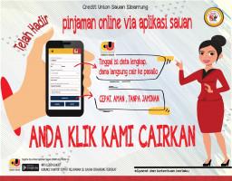ANDA KLIK, KAMI CAIRKAN : Pinjaman Online Via Aplikasi Mobile Sauan